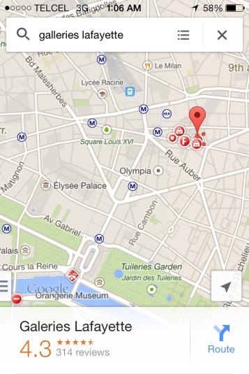 Con mapas del iPhone, libros y folletos nos movimos en París.