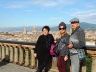 Florencia al fondo, un día soleado, mis papás felices, yo no podía pedir más.