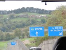 Parte del tour por italia lo hicimos en carretera y disfrutamos de los paisajes,