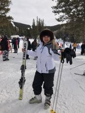 Esquiar no es lo mío, pero me divierte.